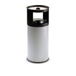 Gettacarte/posacenere autoestinguente - 40 litri - diametro 31cm - altezza 80cm - grigio - StilCasa