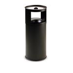 Gettacarte/posacenere autoestinguente - 40 litri - diametro 31cm - altezza 80cm - nero - Stilcasa