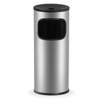Gettacarte/posacenere - 25 litri - diametro 25 cm - altezza 62 cm - grigio - StilCasa