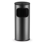 Gettacarte/posacenere - 25 litri - diametro 25cm - altezza 62cm - nero - Stilcasa