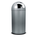 Gettacarte Push - 40 litri - diametro 31cm - altezza 85 cm - grigio - StilCasa