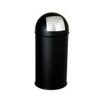 Gettacarte Push - 40 litri - diametro 31cm - altezza 85cm - nero - Stilcasa