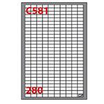 Etichetta adesiva C581 Markin - bianco - 19x10 mm - 280 etichette per foglio - scatola 100 fogli A4