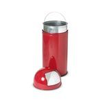 Gettacarte Push - 40 litri - diametro 31cm - altezza 85cm - rosso - Stilcasa