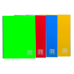 Maxiquaderno One Color - A4 - quadretto 4mm - 60 fogli - 80gr - 4 fori - spiralato - Blasetti