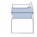 Busta bianca senza finestra - serie Mailpack - strip adesivo - 120x180 mm - 80 gr - Blasetti - conf. 25 pezzi