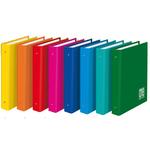 Raccoglitore One Color - dorso 3 cm - 4 anelli 25 mm - 18x22 cm - colori assortiti - Blasetti