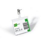 Portabadge - PVC - clip in metallo - 6x9 cm - Durable - conf. 5 pezzi