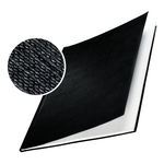 Copertine Impressbind - rigide - 24,5 mm - finitura lino - blu - Leitz - scatola 10 pezzi