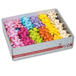 Stelle Everyday in Raphia Synthetic - colori assortiti - diametro 65mm - Bolis - conf. 80 stelle