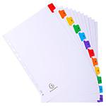 Divisori in cartoncino A4 con tasti stampati Nature Future