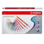 Astucccio - metallo - Carboncino - 12 colori