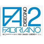 Album F2 - 24x33cm - 10 fogli - 110gr - quadretto 5mm - punto metallo - Fabriano