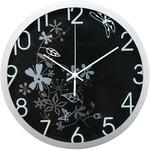 Orologio da parete Flowers - diametro 30,5 cm - nero - Methodo