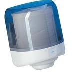 Dispenser asciugamani a spirale Prestige -  formato Maxi - 25,6x27,5x33,5 cm - bianco/azzurro trasparente - Mar Plast