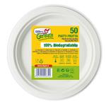 Piatti frutta - ø 175 mm - biodegradabili - DOpla Green - conf. 50 pezzi