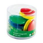 Bottoni magnetici tondi - diametro 20 mm - colori assortiti - Lebez - barattolo da 40 pezzi