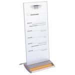 Portabrochure personalizzabile - alluminio - 10,5x21 cm - Alba