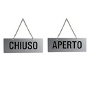 Cartello con catenella - APERTO/CHIUSO - 17.5x6.5 cm - Markin
