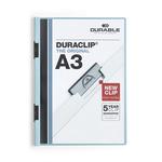 Cartellina con molla Duraclip - PVC - A3 - azzurro - Durable