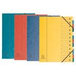 Classificatore numerico 1/12 Nature Future - 12 scomparti - 24x32 cm - colori assortiti - Exacompta