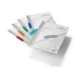 Cartelline con clip Swingclip - PP trasparente - 22x31 cm - clip colorata - Durable - conf. 5 pezzi