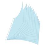 Fascicolo 10 buste riposizionabile - per portalistini Jowarel - PPL - liscio - A4 - trasparente - Exacompta