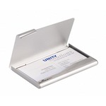 Porta biglietti da visita Business Card Box - 9x5,5 cm - alluminio - Durable