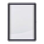Bacheca per esterni - fondo magnetico bianco - 9 fogli A4 - verticale - Nobo