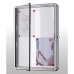 Bacheca per interni - fondo magnetico bianco - 4 fogli A4 - verticale - Nobo