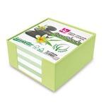 Contenitore in plastica con foglietti - bianco - 10 x 10 x 5cm - carta riciclata 100% - CWR