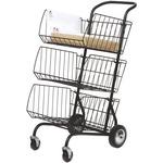 Carrello Corchar per la posta - 3 vaschette removibili - rete in metallo - Alba