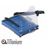 Taglierina a leva 3023 - A4 - 385x405x410 mm - 310 mm (A4) - capacità taglio 20 fg - con blocca lama - blu - Titanium