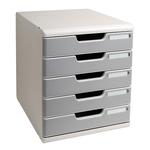 Cassettiera Modulo A4 -  35x28,8x32 cm - 5 cassetti - grigio/granito - Multiform