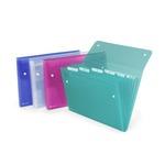 Cartella a soffietto Ice - 6 tasche - 22x30 cm - colori assortiti - Rexel