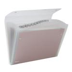 Cartella a soffietto Ice - 13 tasche - 22x30 cm - trasparente - Rexel