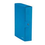 Scatola progetto WOW - dorso 8 cm - blu metallizzato - Leitz