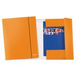 Cartellina con elastico WOW - cartoncino plastificato - 3 lembi - 25x35 cm - arancio - Leitz