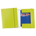 Cartellina con elastico WOW - cartoncino plastificato - 3 lembi - 25x35 cm - verde - Leitz