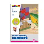 Cartoncino ondulato Cannetè 2205 - 50x70cm - colori assortiti - CWR - set 10 fogli