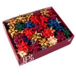 Stelle Raphia Sintetica - colori assortiti Christmas - diametro 65mm - Bolis - conf. 80 stelle