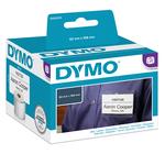 Rotolo etichette LW S0929110 - 62x106 mm - non adesivo - con foro per badge - bianco - Dymo