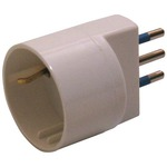 Adattatore semplice con spina 2p+t 10a - presa schuko 10a