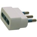Adattatore semplice con spina 2P+T 16A - presa bipasso 10/16A - MKC