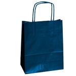 Shoppers carta Kraft Twisted - blu - 26 x 11 x 34,5cm - Cartabianca - conf. 25 shoppers