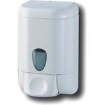 Dispenser da muro Prestige per sapone liquido - capacità 1 L - bianco/azzurro trasparente - Mar Plast