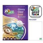 Etichetta adesiva PG4 - permanente - 210x297 mm - 1 etichetta per foglio - bianco lucido - Tico - conf. 100 fogli A4