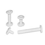 Viti sepolte - plastica - 20 mm - bianco - CWR - conf. 20 pezzi