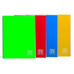 Maxiquaderno One Color - A4 - quadretto 5mm -60fg - 80gr - spiralato - Blasetti