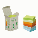 Blocco Post it® Z Notes Green - linea Natural - 38 x 51mm - 100 fogli - riciclabile 100% - Post it®